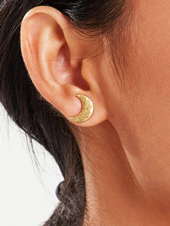 Gold Luna Earrings - Boho Buys