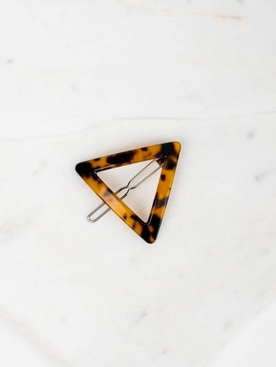 Triangle Tortoise Shell Clip | DARK - Boho Buys