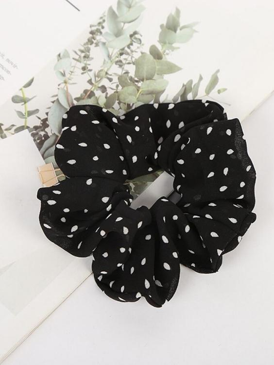Georgie Scrunchie | BLACK - Boho Buys