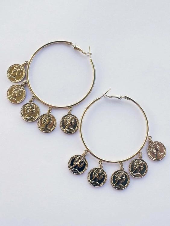 Treasure Hoop Earrings - Boho Buys