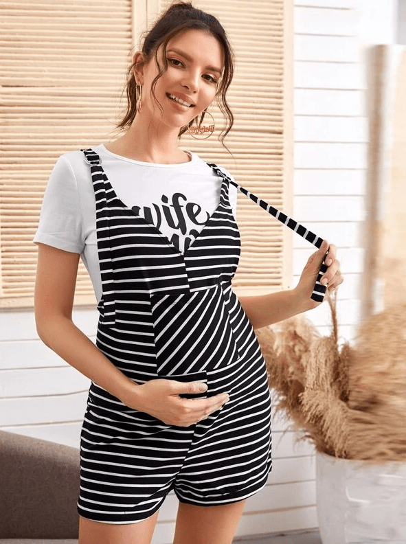 BOHO BUMP Billie Romper | BLACK - Boho Buys