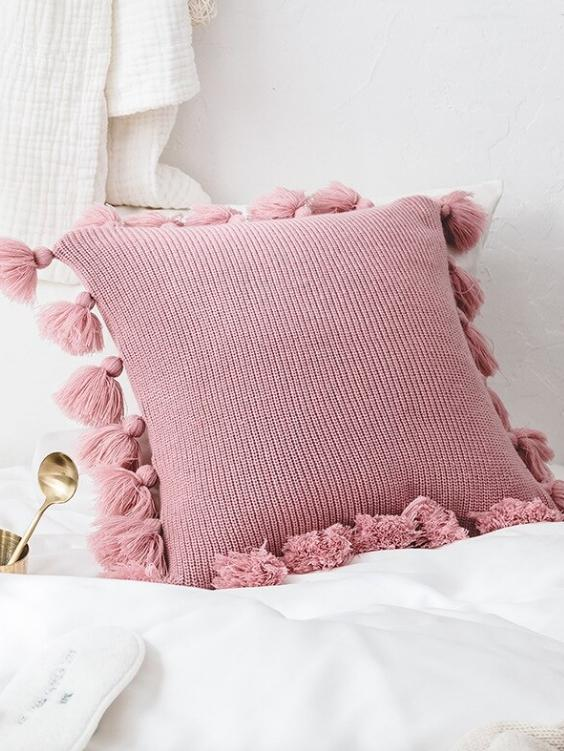 Bungalow Cushion Cover | BLUSH - Boho Buys