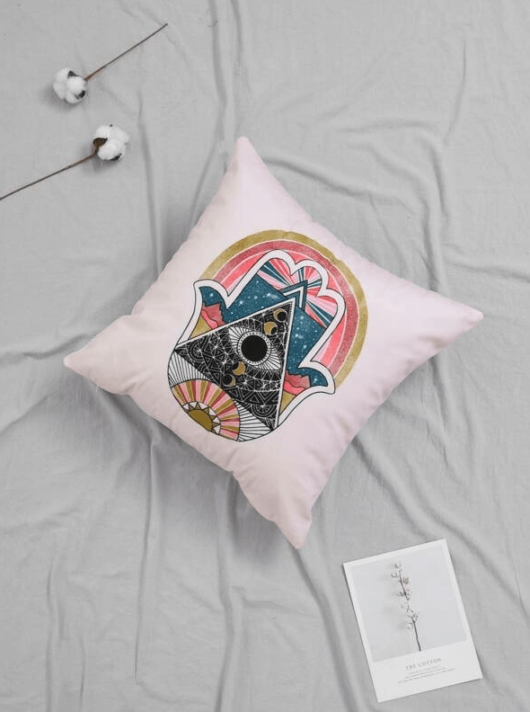 Hamsa Cushion Cover - Boho Buys