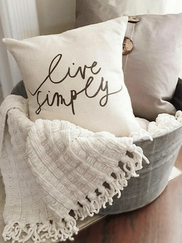 Live Simply Cushion Cover - Boho Buys
