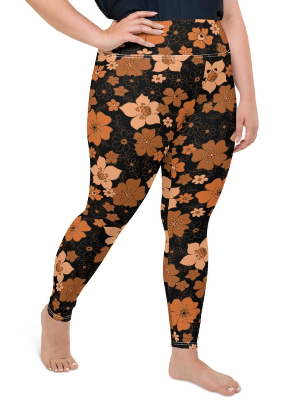 Plus Size Midnight Garden Leggings - Boho Buys
