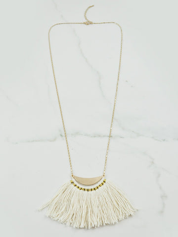Mojave Long Tassel Necklace