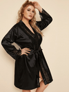 PLUS SIZE Jinx Satin Robe - Boho Buys