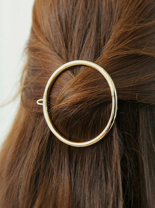 Full Circle Hair Clip | GOLD - Boho Buys