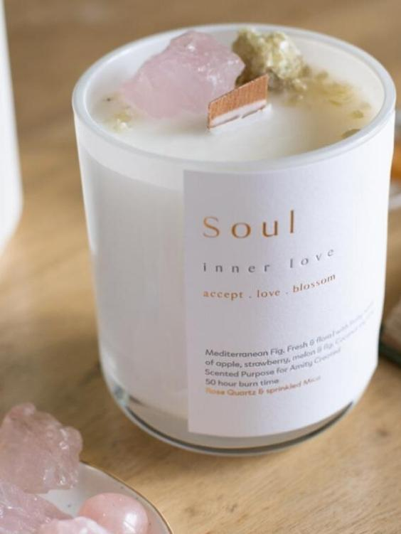 AMITY CREATED Soul Crystal Candle - Boho Buys