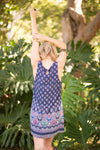 Navy Siesta Shift Dress - Boho Buys