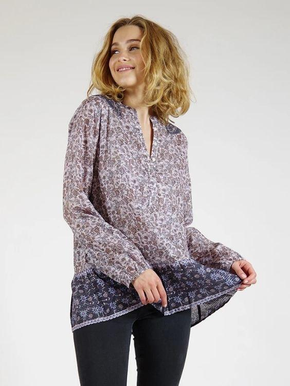 Amethyst Lurex Cotton Tunic - Boho Buys