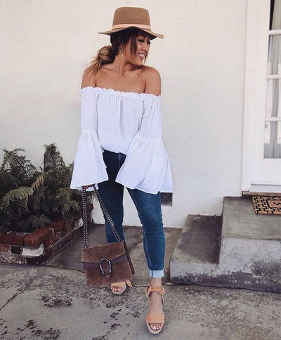 North Beach Off The Shoulder Top - Boho Buys