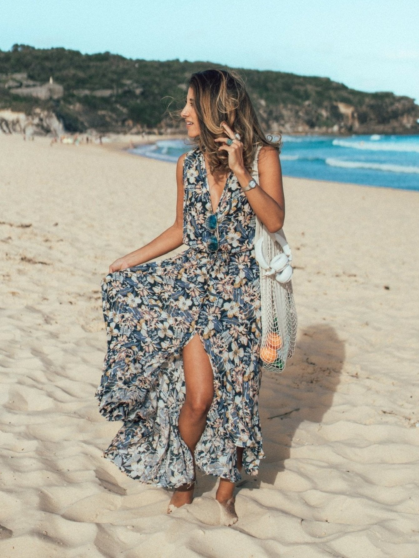 Indah Ruffle Maxi Dress - Boho Buys