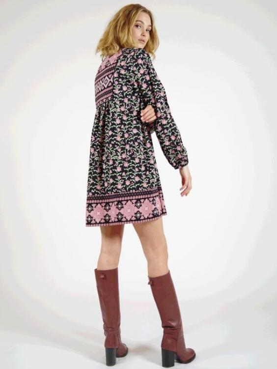 EYES ON FLOYD Quartz Cotton Dress - Boho Buys
