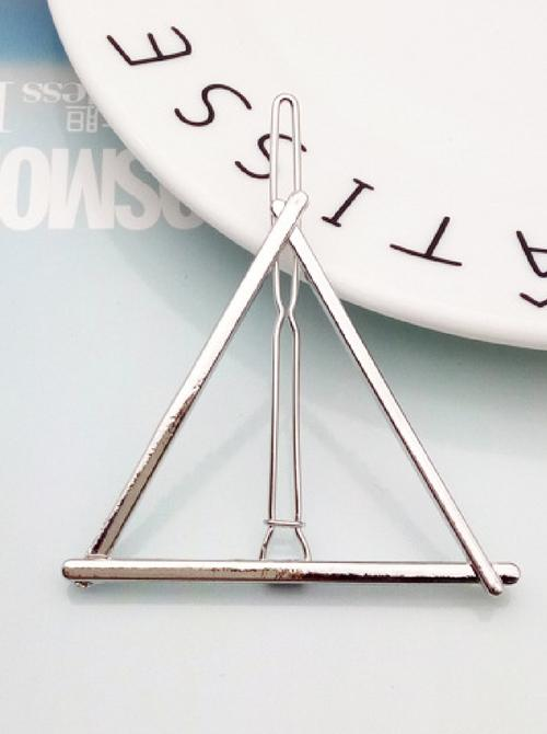 Triangle Hair Clip | SILVER - Boho Buys