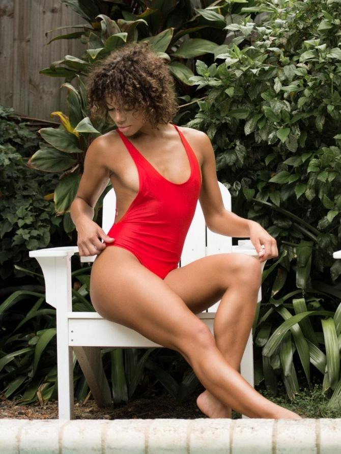 Tyra Red One Piece - Boho Buys