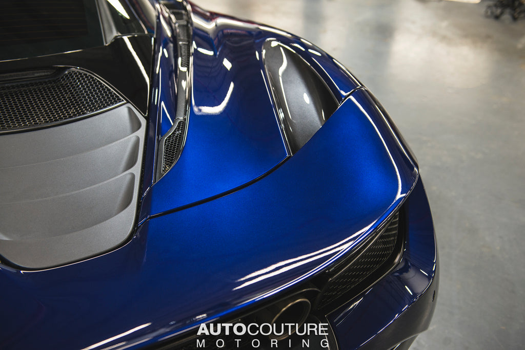 Blue McLaren 720S PPF and Ceramic coating at our east coast detail shop