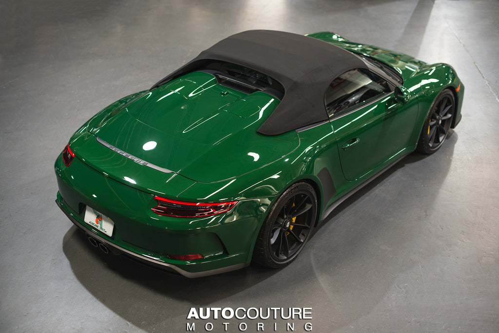 Irish Green 991.2 Porsche 911 Speedster full paint protection film and ceramic coating