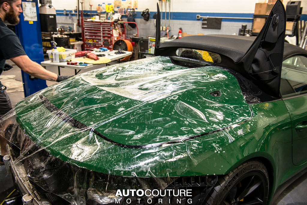 Porsche 911 Speedster getting full paint protection film and ceramic coating