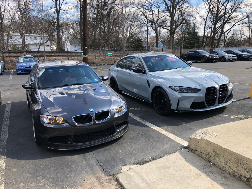 And side by side with my E90