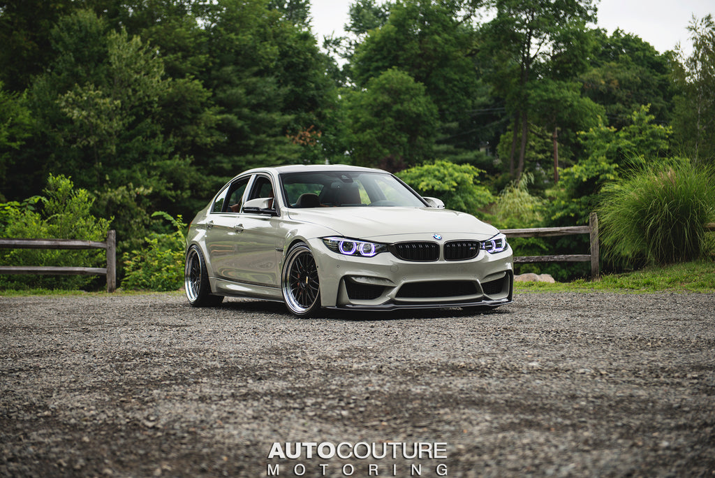 F80 M3 on BBS LM Wheels, an Akrapovic Exhaust, Eventuri Intake, and a KW HAS Kit