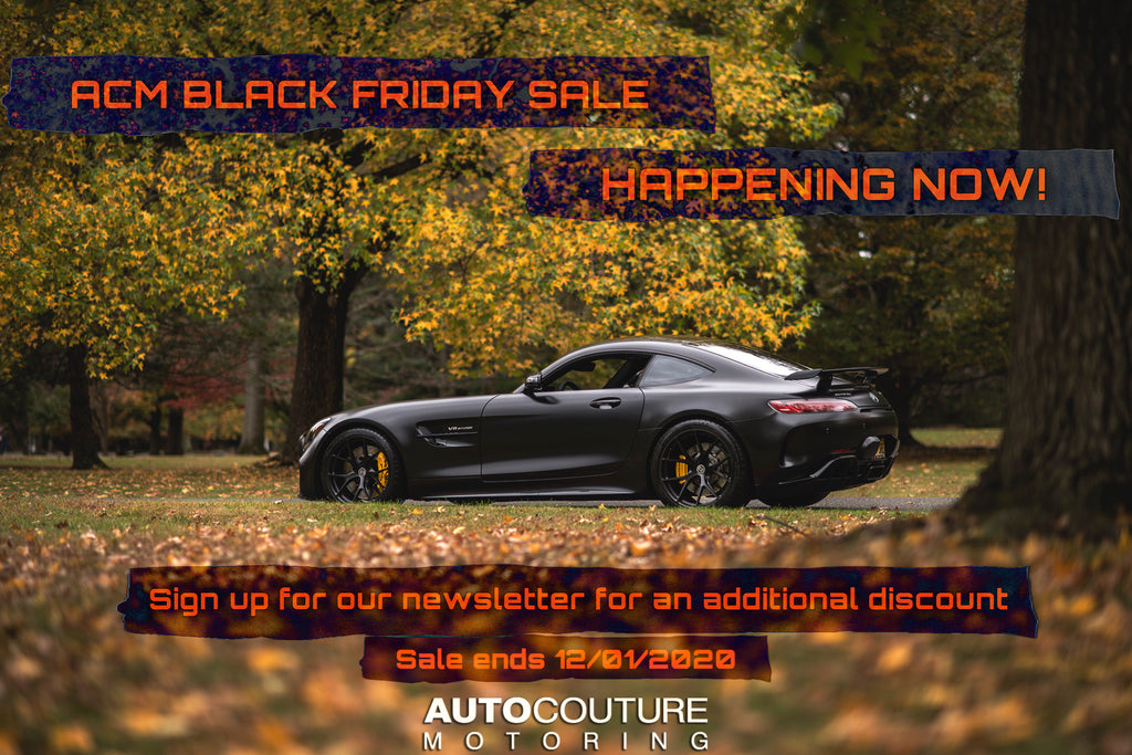 Autocouturemotoring.com Black Friday Sale & Cyber Monday Deals: happening now!  Shop the best deals of the year on Eventuri, Akrapovic, KW, Ohlins, JRZ, RSC, HKS and More!