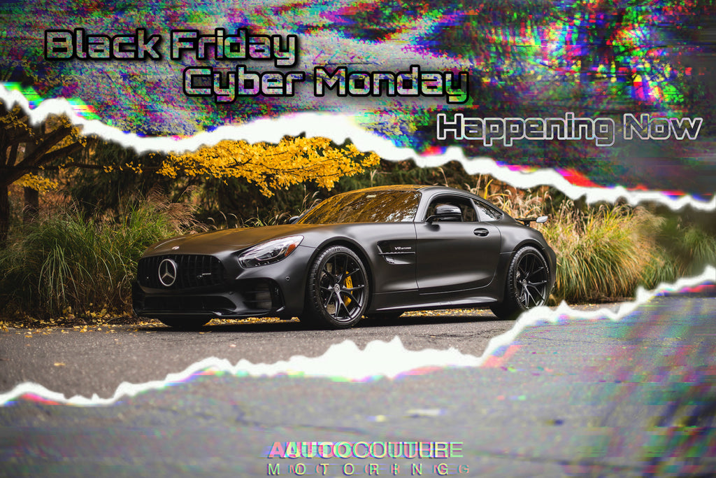 Black Friday Sale and Cyber Monday Deals at autocouturemotoring.com performance car parts on sale