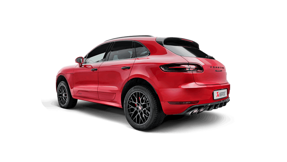 Akrapovic 2017 Porsche Macan Turbo and GTS (95B) Rear Carbon Fiber Diffuser - High Gloss - AUTOcouture Motoring - Exterior - Akrapovic