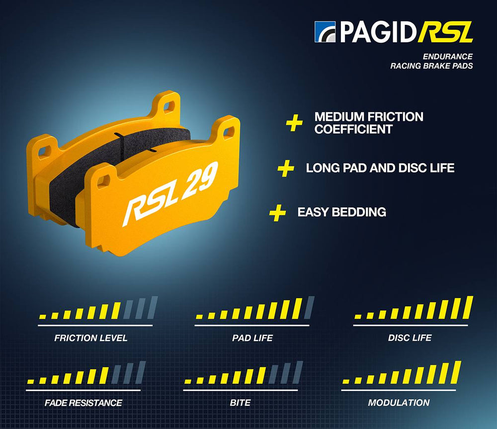 Pagid RS 29 Yellow Front Brake Pads Lamborghini Gallardo 04+ - AUTOcouture Motoring - Brakes - Pagid