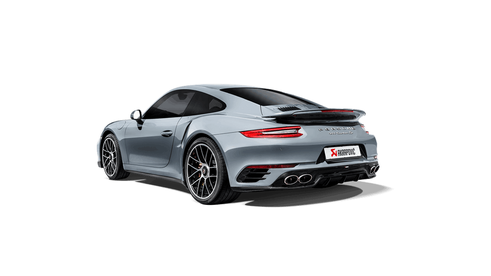 Akrapovic 16-17 Porsche 911 Turbo/Turbo S (991.2) Rear Carbon Fiber Diffuser - High Gloss - AUTOcouture Motoring - Exterior - Akrapovic