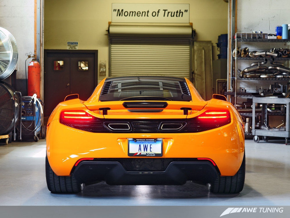 AWE Tuning McLaren MP4-12C Performance Exhaust - Machined Tips - AUTOcouture Motoring - Exhaust - AWE Tuning