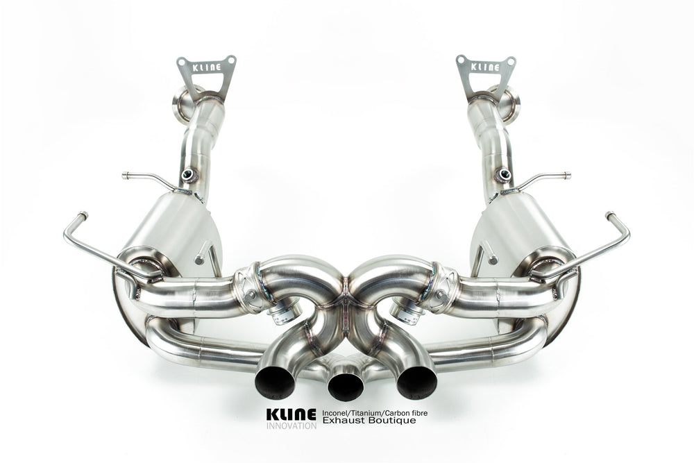 Kline Innovation Stainless Steel Full System with Cat Pipes Ferrari 458 Italia 10-15 - AUTOcouture Motoring - Exhaust - Kline