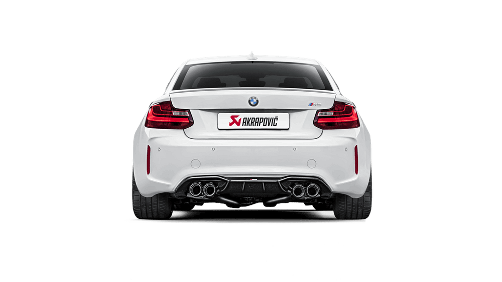 Akrapovic 16-17 BMW M2 F87 (Excl M2 Competition) Evolution Line Cat Back (Titanium) w/Carbon Tips - AUTOcouture Motoring - Exhaust - Akrapovic