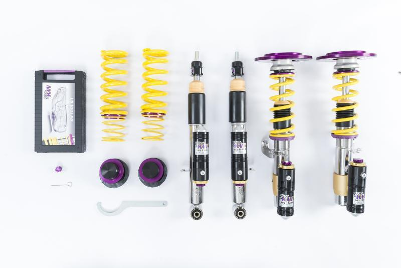 KW Coilover Kit V4 (3 Bolt Style Top Mounts) BMW M3 & M4 F8X with EDC - AUTOcouture Motoring - Suspension - KW