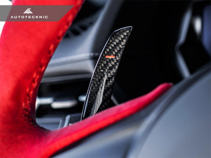 AutoTecknic A90 Supra Dry Carbon Shift Paddle Set - AUTOcouture Motoring - Interior - AutoTecknic