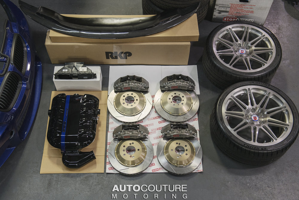 StopTech 14+ BMW M3/M4 (F8X) Rear Big Brake Kit ST-40 Trophy Calipers 380x32mm Rotors - AUTOcouture Motoring - Brakes - Stoptech
