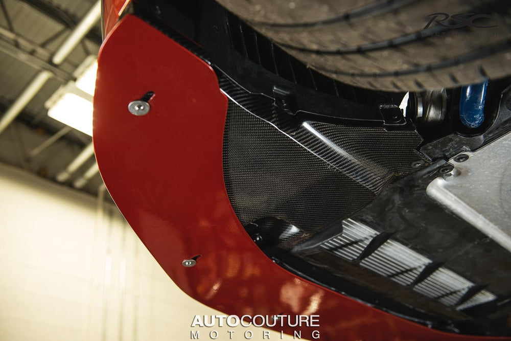 RSC Tuning Carbon Fiber Adjustable Splitter for BMW F8X M3 & M4 - AUTOcouture Motoring - Exterior - RSC Tuning
