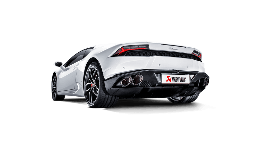 Akrapovic 16-16 Lamborghini Huracan Slip-On Line (Titanium) w/ Carbon Tips - AUTOcouture Motoring - Exhaust - Akrapovic