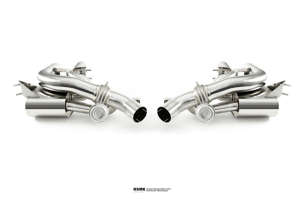 Kline Innovation Stainless Steel Rear Section Ferrari GTC4Lusso 16-17 - AUTOcouture Motoring - Exhaust - Kline