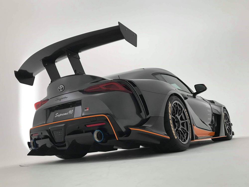 Varis GT-Wing with Mount Bracket for Street II (1800mm, Carbon) - Toyota Supra A90 2020+ - AUTOcouture Motoring - Exterior - Varis