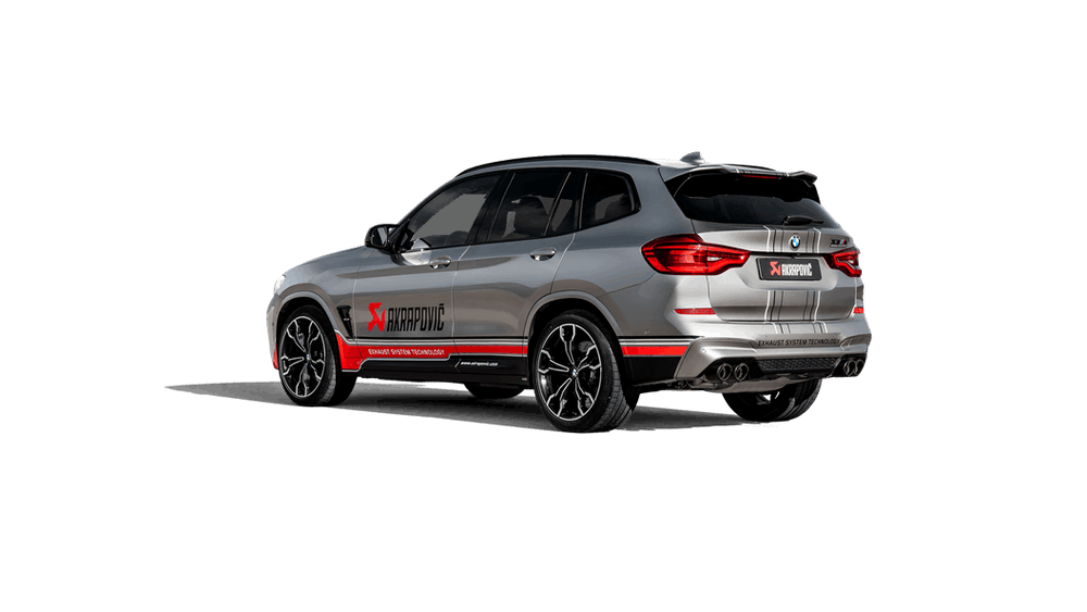 Akrapovic 19-20 BMW X3M / X4M (F97/F98) w/OPF/GPF Slip-On Line (Titanium) (Req. Tips) - AUTOcouture Motoring - Exhaust - Akrapovic