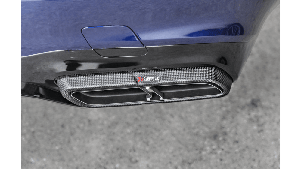 Akrapovic 2018 Mercedes Benz E63 (W213) Evolution Tail Pipe Set (Matte Carbon) - AUTOcouture Motoring - Exhaust - Akrapovic