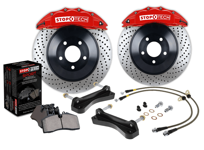 StopTech Big Brake Kit 06-09 BMW M5/M6 Rear ST-41 Calipers 380x32mm Rotors - AUTOcouture Motoring - Brakes - Stoptech