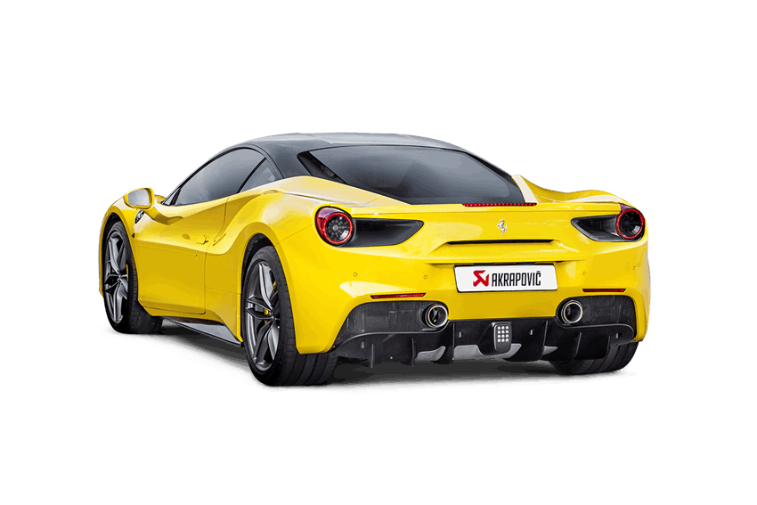 Akrapovic 16-17 Ferrari 488 GTB/488 Spyder Slip-On Line (Titanium) w/ Carbon Tips - AUTOcouture Motoring - Exhaust - Akrapovic