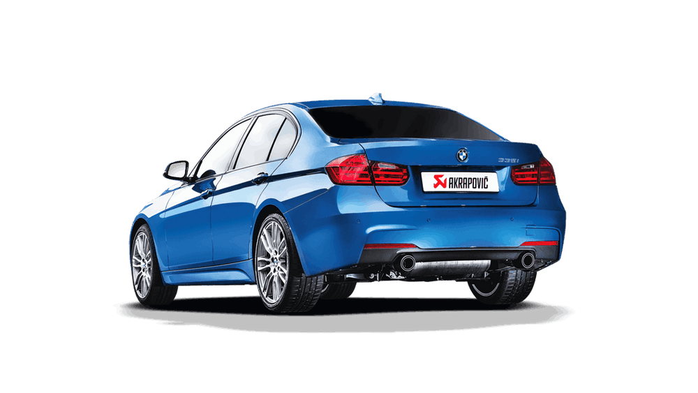 Akrapovic 12-15 BMW 335i (F30 F31) Evolution Line Cat Back (SS) w/ Carbon Tips (Req. Link Pipe) - AUTOcouture Motoring - Exhaust - Akrapovic