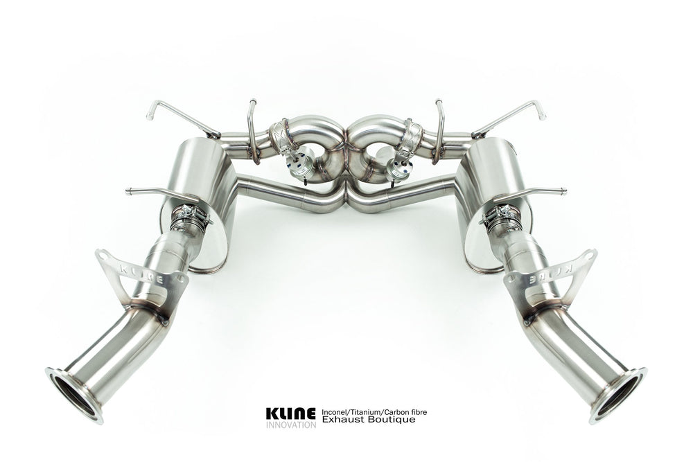 Kline Innovation Stainless Steel Full System with Race Pipes Ferrari 458 Italia 10-15 - AUTOcouture Motoring - Exhaust - Kline