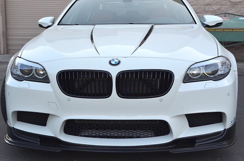 AP 2012-2013 BMW F10 M5 Carbon Fiber Front Lip Spoiler - AUTOcouture Motoring - Exterior - Agency Power
