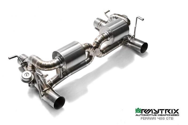 ARMYTRIX Stainless Steel Valvetronic Exhaust System Ferrari 488 2015-2018 - AUTOcouture Motoring - Exhaust - ARMYTRIX