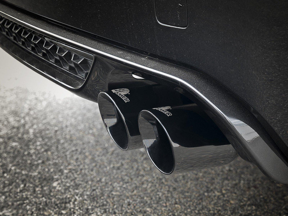 aFe MACH Force-Xp 3.5in. 304 SS C/B Exhaust w/o Muffler BMW X5 M (F85) / X6 M (F86) 15-19 V8-4.4L (tt) S63 - Black Tip - AUTOcouture Motoring - Exhaust - aFe