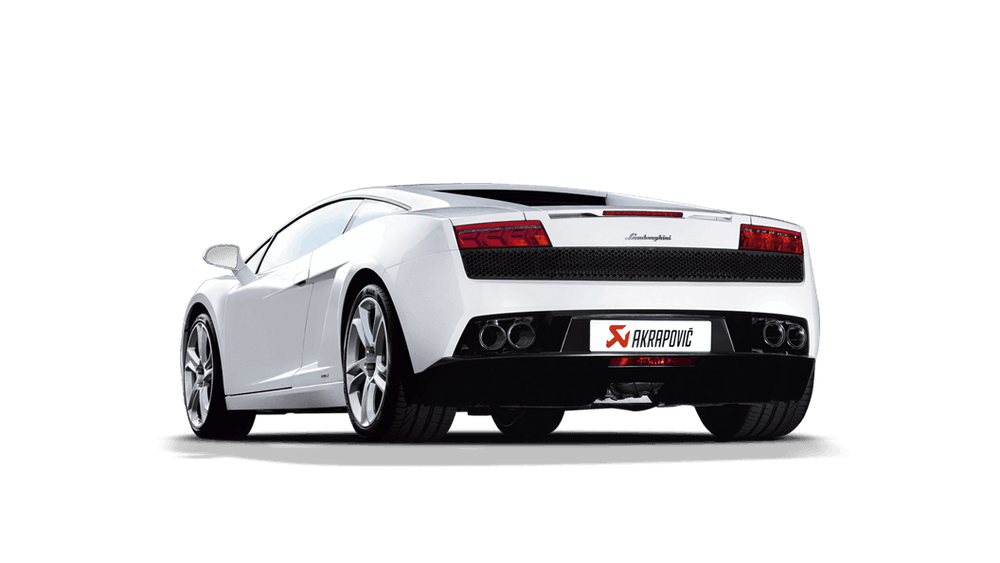 Akrapovic 09-14 Lamborghini Gallardo Slip-On Line (Titanium) (Req. Tips) - AUTOcouture Motoring - Exhaust - Akrapovic